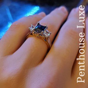14k Gold & Sterling Silver Engagement Ring